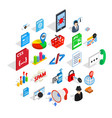 database cloud icons set isometric style vector image vector image