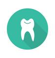 dentist flat design long shadow icon vector image vector image