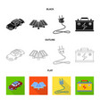 design of innovation and technology sign vector image