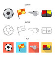 design of soccer and gear logo set of vector image