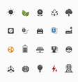 environment and power symbol icon set vector image vector image