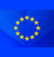 euro flag with faces vector image