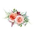 floral bouquet design blush peach juliette rose vector image vector image