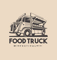 food truck restaurant delivery service logo vector image vector image