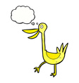 funny cartoon duck with thought bubble vector image vector image