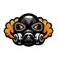 gas mask logo vector image