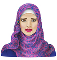Girl in hijab vector image vector image