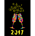 glasses mozaic 2017 vector image vector image