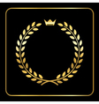 Gold laurel wheat wreath icon crown vector image vector image