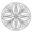 greek circular panel is a long leaves pattern vector image vector image