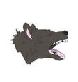 hyena portrait vector image vector image