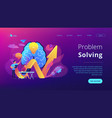 innovative solution concept landing page vector image vector image