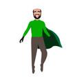 male superhero cartoon character vector image