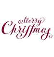 Merry Christmas Lettering handwritten text for vector image