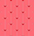 Pattern with stylized Minimalistic hearts vector image vector image