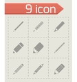 pencil icon set vector image vector image