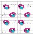 pop art pattern background vector image