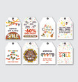 price sale tags set for mexican holiday cinco vector image vector image