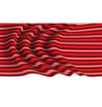 realistic red tone line fabric wave on white vector image