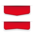 Red ribbon set vector image vector image
