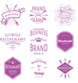 Retro Vintage Insignias or Logotypes set design vector image vector image