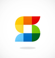 S abstract pixel colorful logo vector image