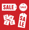 sale tag set design vector image vector image