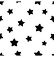 seamless abstract pattern with black stars on vector image vector image