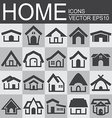 set home icons vector image