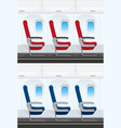 set of airplane seat layout vector image vector image