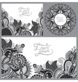 set of grey floral decorative background template vector image