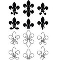 Set of royal heraldic lily vector | Price: 1 Credit (USD $1)