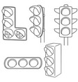 set of traffic light vector image