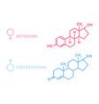 sex hormones laboratory symbol hormone estrogen vector image vector image