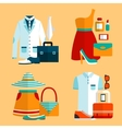 Shopping Clothing Icons Set vector image vector image