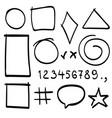 sketch symbols sign sketch figure icons vector image vector image