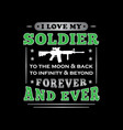 soldier quote and saying good for print vector image