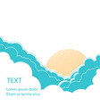 sun with clouds background vector image vector image