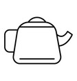 teapot thin line icon kettle vector image vector image
