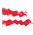 textured grunge waving flag austria vector image vector image
