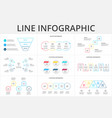 thin line flat elements for infographic template vector image vector image