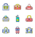 trunk icons set cartoon style vector image vector image