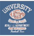 University football athletic department vector image vector image