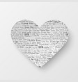 valentines day card with paper heart vector image vector image