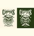 vintage monochrome marijuana label vector image