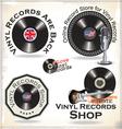 Vinyl records labels vector image vector image