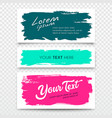 white card brush stroke colorful set vector image vector image