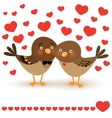 with two cartoon birds vector image vector image