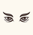 woman eyes with eyebrows and lashes vector image