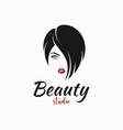 women face hair salon logo hairstyle for women vector image